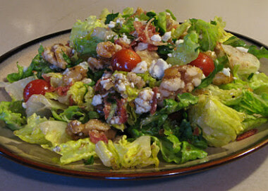 Blue Cheese, Pancetta and Candied Walnut Salad