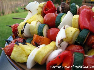 Shish Kebabs - Teriyaki Beef, Vegetable, and Lemon Basil Shrimp