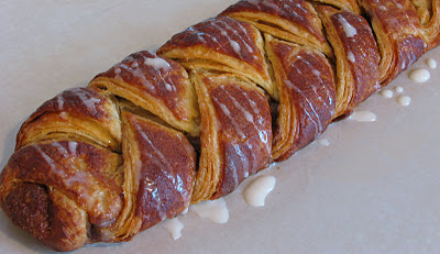 Danish Braids – Strawberry with Orange Vanilla Glaze and Cinnamon and Brown Sugar with Vanilla Glaze