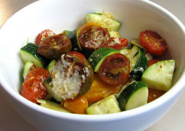 Roasted Tomato Medley with Zucchini and Cotija Cheese