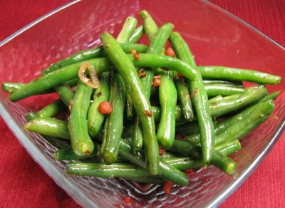Green Beans with Pancetta and Shallots