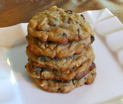 Chocolate Chip, Toffee and Almond Cookies