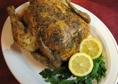 Lemon and Tarragon Roasted Chicken