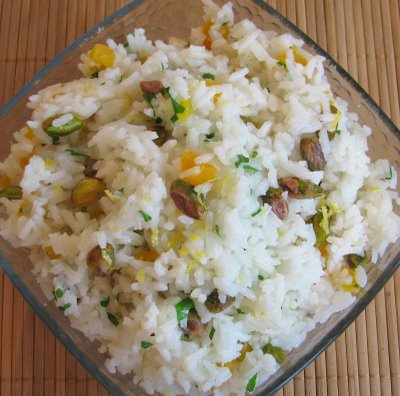 Rice with Apricots and Pistachios