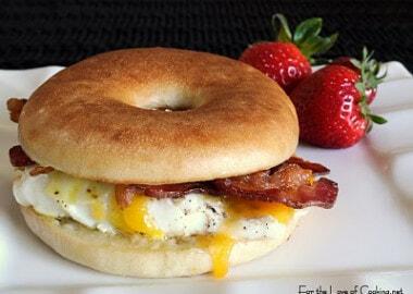 Bacon, Egg, Sharp Cheddar Bagel Sandwich