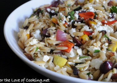 Mediterranean Orzo Salad with Grilled Vegetables