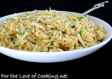 Parmesan-Brown Butter Orzo with Toasted Pine Nuts