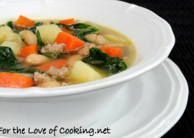 Sausage, Potato, Veggie, and White Bean Soup