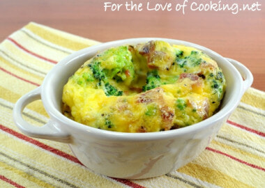 Mini Baked Frittata with Broccoli, Bacon, and Sharp Cheddar