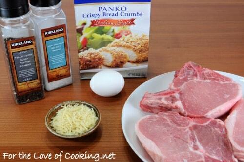 Italian Panko and Parmesan Crusted Pork Chops