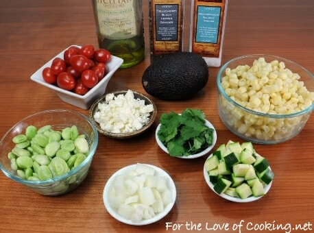 Succotash with Avocado, Tomato, and Cotija Cheese