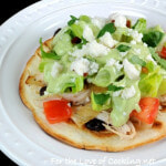 Chicken Tostadas with Avocado Dressing