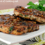 Herb Pork Chops with Caramelized Shallots