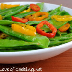 Sesame Snow Peas and Peppers