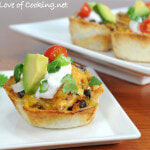 Creamy Chicken Taco Cups