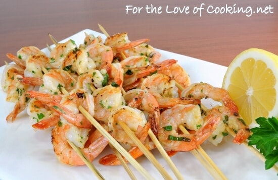 Garlic and Herb Shrimp Skewers