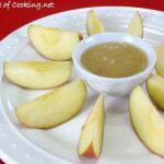Vanilla Bean Caramel Dip with Sliced Apples