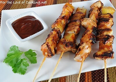 Barbecued Chicken and Pineapple Skewers