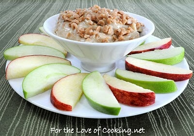 Toffee Crunch Dip with Sliced Apples