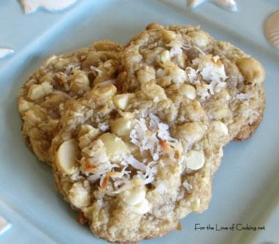 White Chocolate, Macadamia Nut, and Coconut Cookies