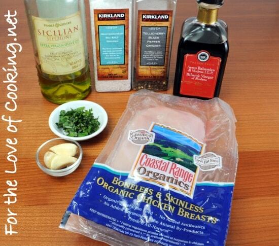 Balsamic, Garlic, and Basil Marinated Chicken Breasts