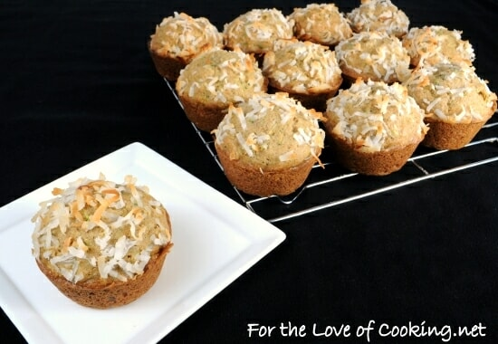 Coconut Zucchini Muffins