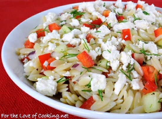 Lemony-Orzo Veggie Salad with Fresh Dill