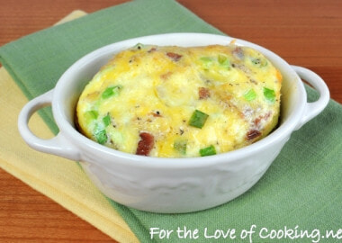 Mini Baked Frittata with Potatoes, Bacon, Sharp Cheddar, and Green Onions