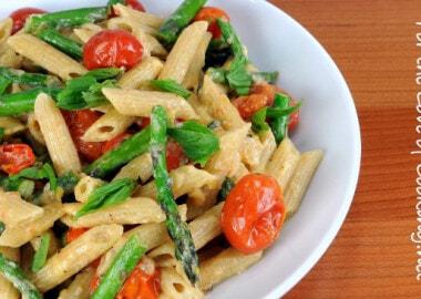 """Tomato and Asparagus """"Carbonara"""""""