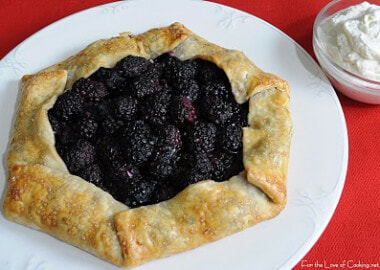 Blackberry Galette with Homemade Vanilla Whipped Cream