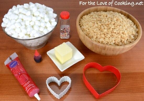 ♥ Valentines Day Rice Krispie Treats ♥