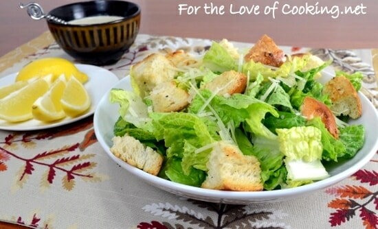 Caesar Salad with Homemade Garlic Croutons