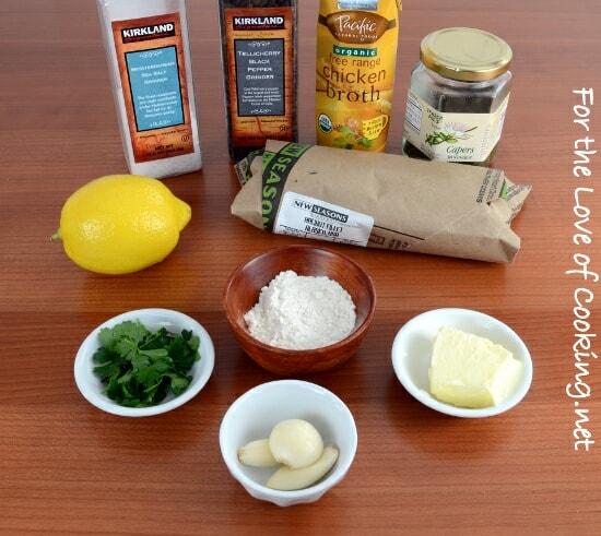 Halibut with Lemon Caper Sauce