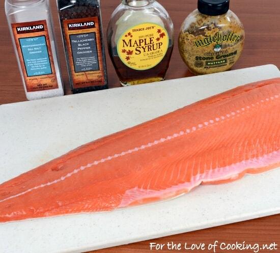 Maple-Mustard Baked Salmon
