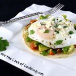 Breakfast Taco with Avocado Salsa and Steamed Egg