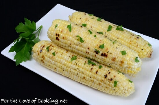 Garlic-Parmesan Grilled Corn on the Cob