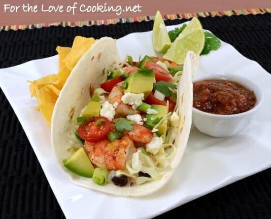 Shrimp Soft Tacos with Creamy Adobo Sauce