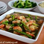 Asparagus and Shrimp Stir Fry
