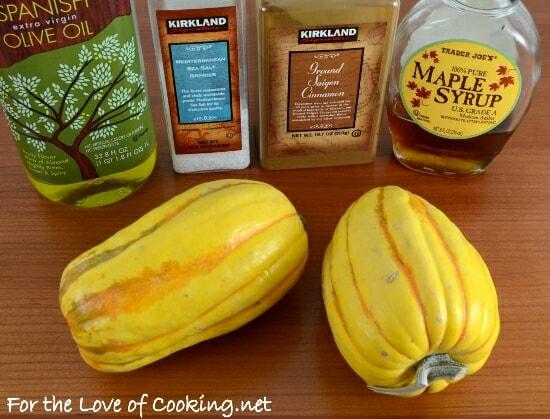Maple and Cinnamon Roasted Delicata Squash