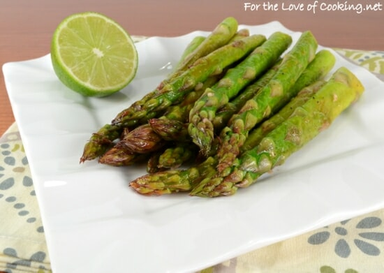 Asparagus with Garlic and Lime
