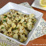 Roasted Cauliflower with Fresh Herbs, Parmesan, and Lemon