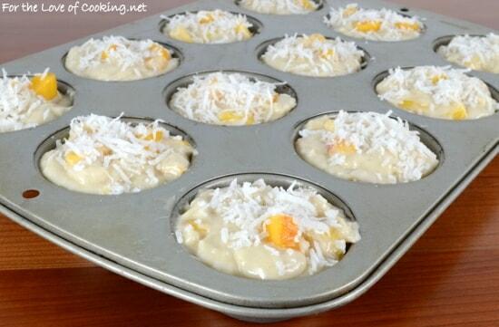 Coconut Peach Muffins