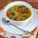 Linguine with Chicken Italian Sausage, Tomatoes, and Kale Soup