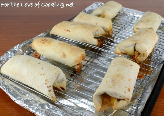 Baked Bean and Cheese Chimichangas