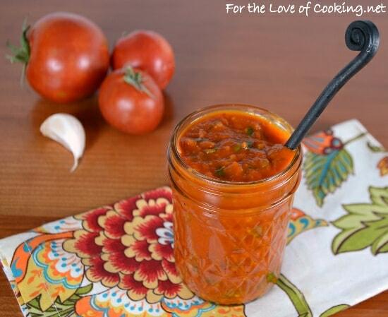 Roasted Tomato and Fresh Basil Pizza Sauce