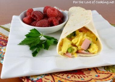 Egg, Ham, and Extra Sharp Cheddar Breakfast Wrap