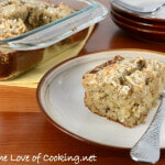 Banana Cake with Pecans and Toasted Coconut