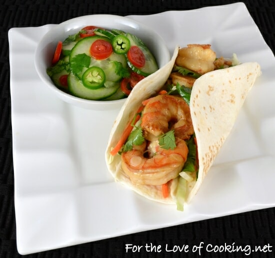 Asian Shrimp Tacos