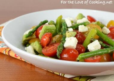 Asparagus, Tomato, Avocado Salad with Feta