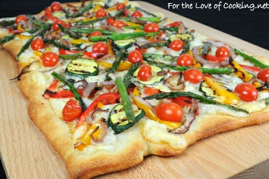 Grilled Vegetable and Smoked Fontina Pizza